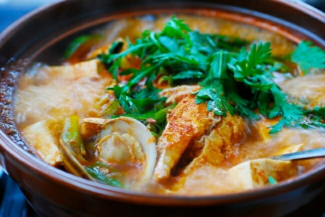 domi maeuntang spicy fish stew with red snapper rising grill