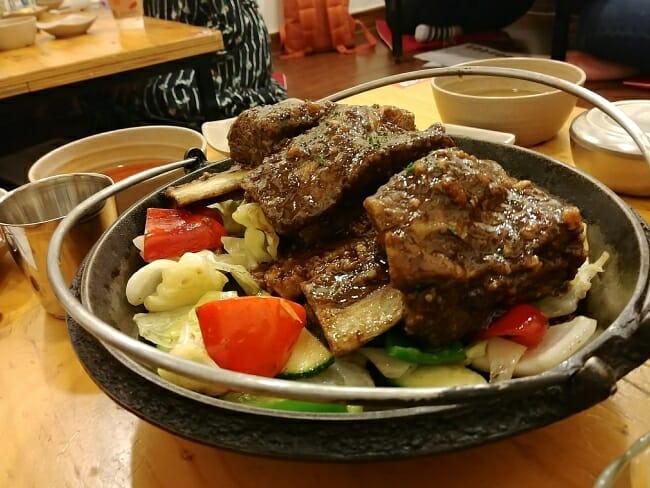 Galbijjim (braised short ribs)