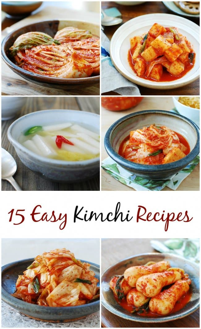 how to make 15 common kimchi types