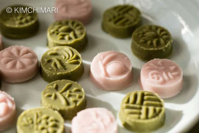 Matcha Green Tea and Omija Cookies (Dasik)