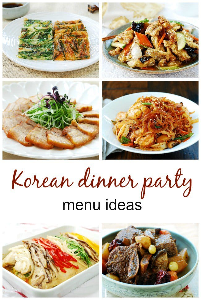 4 Korean Dinner Party Menu Ideas