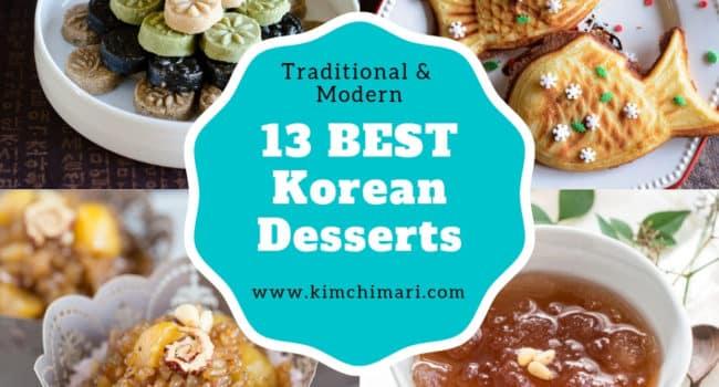 photo collage of best korean desserts