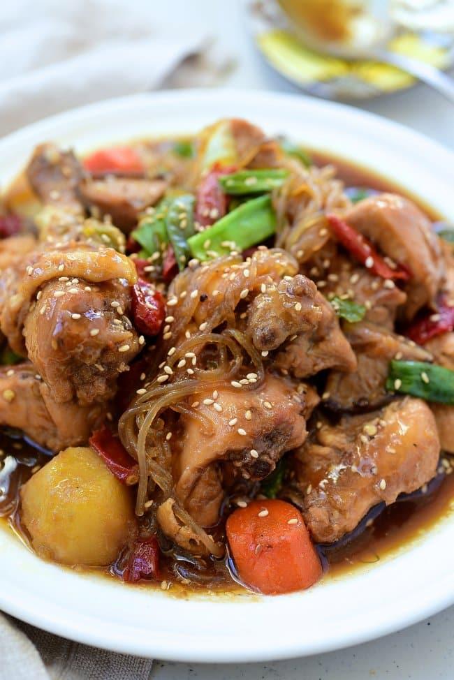 Korean braised chicken