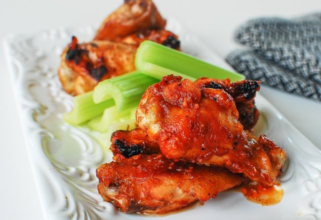 Korean flavored chicken wings