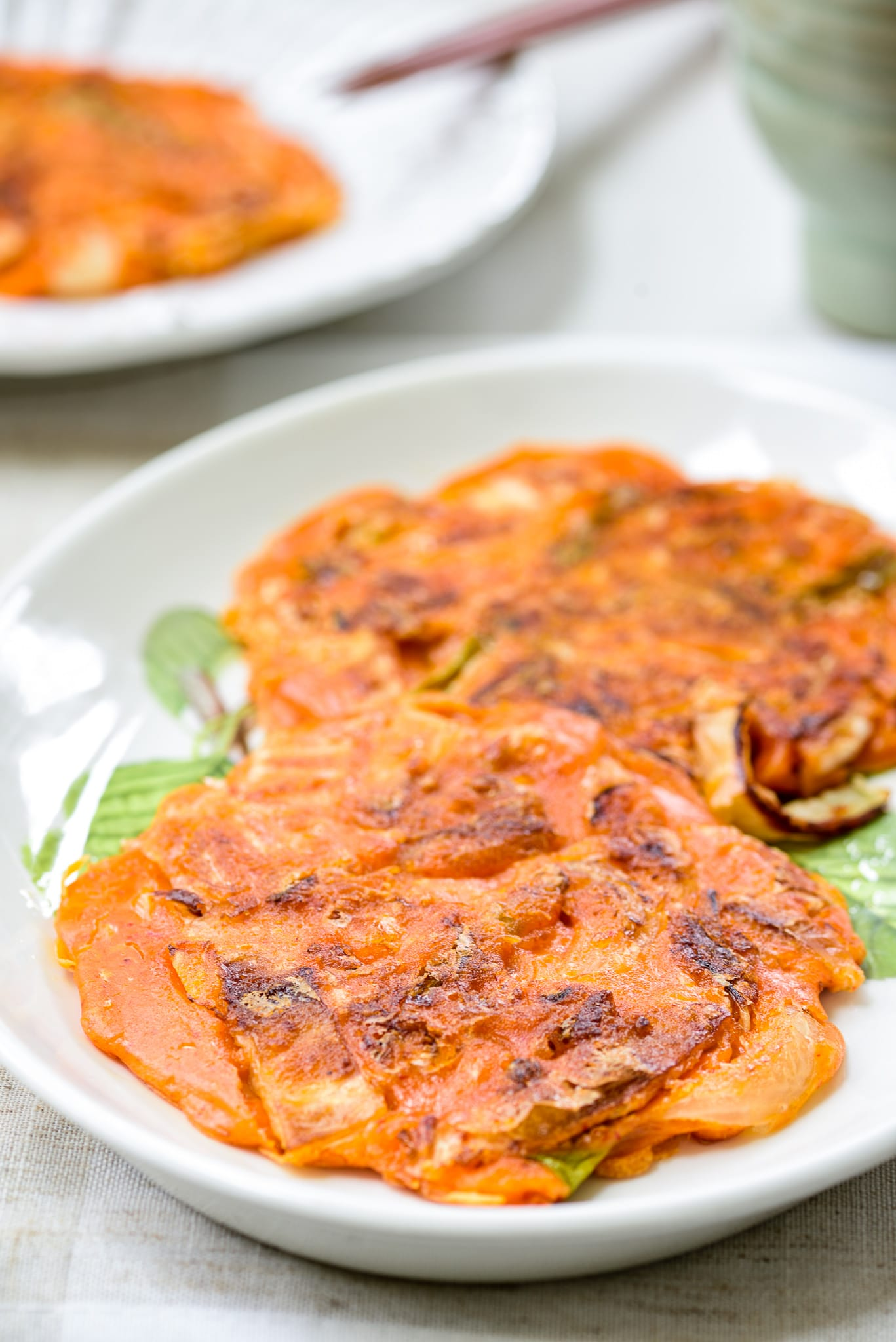 Kimchi pancakes (Korean savory pancakes)